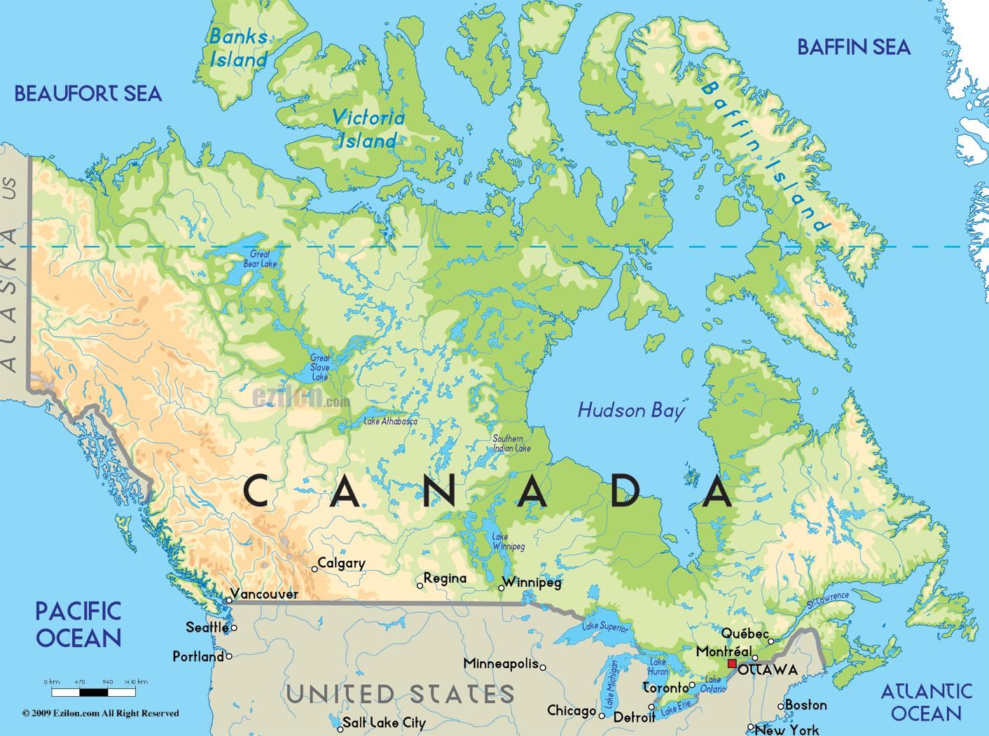 Karta Pa Kanada.Karta Over Kanada Karta Over Kanada For Att Skriva Ut Nordamerika