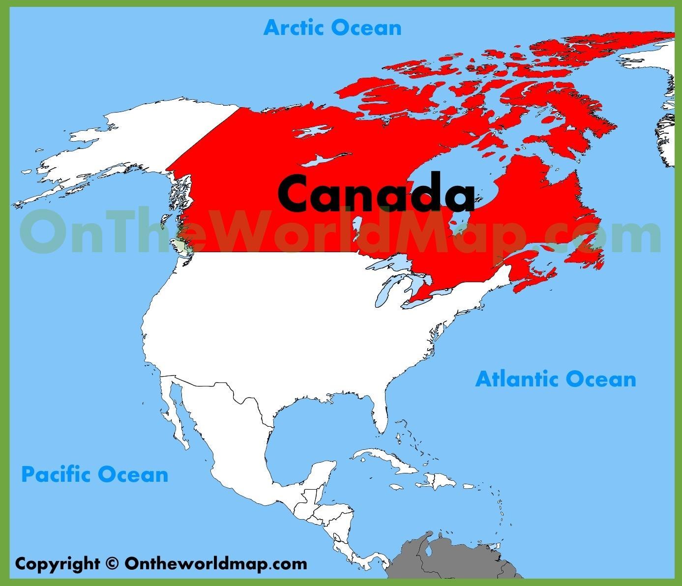 Karta Over Usa Och Kanada