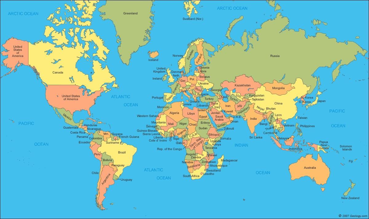 Varldskarta Som Visar Kanada I Kanada Kartan I Varlden Karta